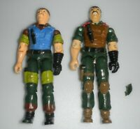 Lot 1984 v1 1989 Slaughters Marauders v2 GI Joe Mutt Action Figure Set *BROKEN*