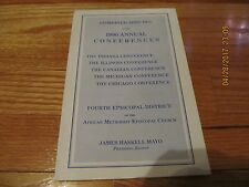 1990 COMBINED MINUTES ANNUAL CONF 4TH DIST AME CHURCH JAMES HASKELL MAYO PB