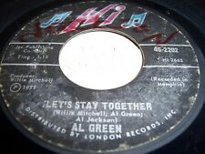 AL GREEN - LET'S STAY TOGETHER / TOMORROW'S DREAM- 1971 SOUL 45, HI 45-2202 (VG)