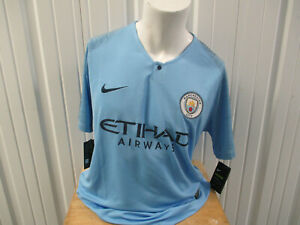 NIKE MANCHESTER CITY F.C. XL JERSEY HOME JERSEY 2017-18 KIT NEW W/ TAGS PREMIER