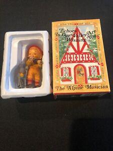 Vintage 1985 Bradford Novelty The Alpine Musician Christmas Tree Ornament Figure