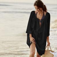 Womens Lace Bikini Cover Up Beach Sarong Kaftan Dress Swimwear Tunic Beachwear
