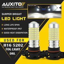 2X AUXITO H16 5202 Fog Light DRL 6000K White LED 144H for Chevrolet GMC Cadillac