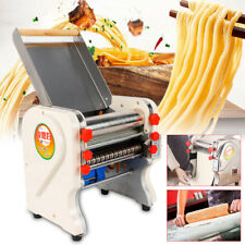 220V Electric Pasta Maker Dumpling Dough Skin Noodles Machine Stainless Steel US