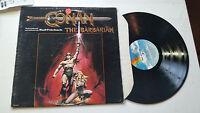 CONAN THE BARBARIAN BASIL POLEDOURIS Original Motion Picture Soundtrack 1982 LP!