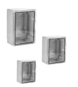 Coffrets électriques étanche IP65 en ABS plastique porte translucide