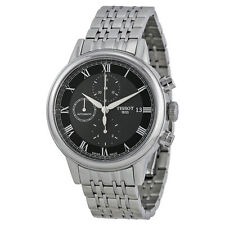 Tissot Carson Automatic Chronograph Black Dial Stainless Steel Mens Watch-AU
