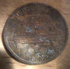 Vintage Frank's Bristol California CAR WASH Token Coin