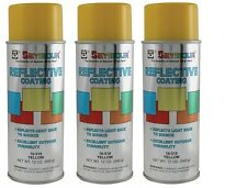 Seymour 16-516 Reflective Water-Based Coatings Spray Paint, Yellow - 3/Pack
