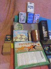VINTAGE JOBLOT OF OLD GAMES Tiddlywinks Dominoes CARDS DRAUGHTS SCRABLE +MORE