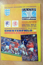 1997 FA Cup Semi Final REPLAY- CHESTERFIELD v MIDDLESBROUGH, 22nd April