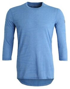 Under Armour Men's Blue UA Utility 3/4 Sleeve Crew-Neck Fitted Shirt