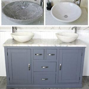 Grey Painted White Marble Top Ceramic Basin Choice 603GWMSBC