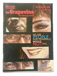 Rare Vintage AA Grapevine Alcoholics Anonymous Book Booklets DECEMBER 1996