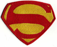 "3"" x 4"" Small Embroidered George Reeves Superman Logo Patch: color choice"