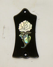 Truss Rod Cover with White Rose Inlay will fit Gibson