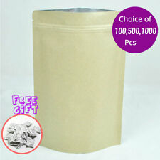 35x55in Kraft Paper Stand Up Zip Lock Gusset Bottom Pouch Bag With Desiccant K01