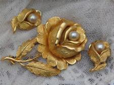 Pearl Earrings Gold Vintage Costume Jewellery (1960s)
