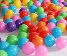 100pcs Quality Ocean Balls  Baby Kid Pit Toy Swim Fun Colorful Soft Plastic ball