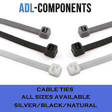 100x CABLE TIES /ZIP TIE WRAPS BLACK SILVER NATURAL WHITE RED GREEN BLUE YELLOW