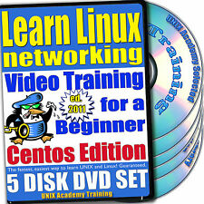Learn Linux Networking, 5-DVD Video Training CentOS Set