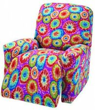 "JERSEY RECLINER COVER----LAZY BOY----TIE DYE---""STRETCHES"" --""FITS MOST CHAIRS"""