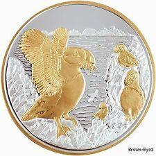Alaska Mint PUFFIN BIRDS Silver Medallion Proof 1Oz