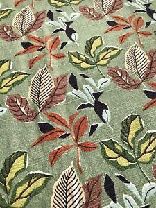 "Vintage 1940's ""Sequoia"" Print Puritan Vat Barkcloth Fabric 3 5/8 Yards New & Un"