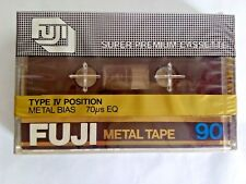 CASSETTE TAPE BLANK SEALED - 1x (one) FUJI metal 90 [1980-1981] made in Japan