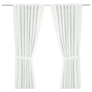 Ikea Ritva Gardine 145x300cm weiss 2x Schals