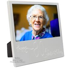 New Engraved Silver 80th Birthday Photo Frame Gift Celebration Memory Picture