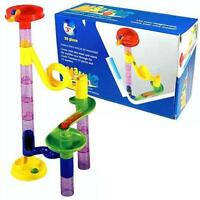 Children's 29 Piece Marble Run Construction Build & Learn Cats Eye Tower Fun Toy
