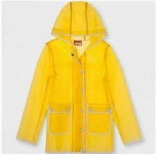 Hunter For Target's Girls Water Resistant Rain Jacket, Yellow, Large