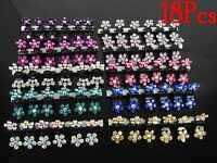 18Pcs Crystal Flower Mini Hair Claw Clamp Hair Clip Hair Pin Hair Accessory
