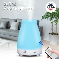 200ml LED Essential Oil Aroma Diffuser 7-Color Cool Mist Ultrasonic Humidifier