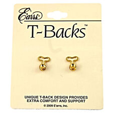 """T-BACKS"" The Stabilizer Replacement Earring Backs for Big  Earrings, Gold Tone"
