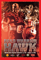 Road Warrior Hawk Poster Art Print Wrestling Print 8x10 (UK A4) Legion of Doom