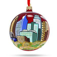 Minneapolis, Minnesota Glass Christmas Ornament 4 Inches