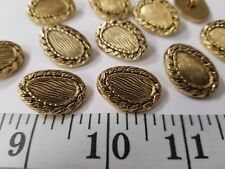 New listing Vintage Buttons Set Of 10 Gold Tuz1371