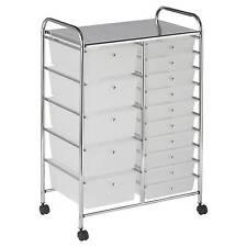 ECR4Kids 15-Drawer Mobile Organizer - White