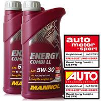5W-30 Motoröl 2x1L Mannol Energy Combi LL 5W30 API SN CF BMW LL-04 MB 229.51 C30