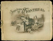 1908 Souvenir of Montreal, Canada Photo-Gravures Booklet