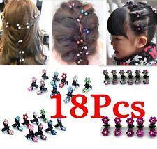 18PCS Baby Girl lady Crystal Flower Mini Hair Claw Clamp Hair Clip Hair Pin Hot