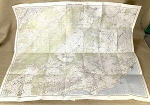 1948 Vintage Map of Switzerland Bière Swiss Vaud Canton Morges Aubonne Apples
