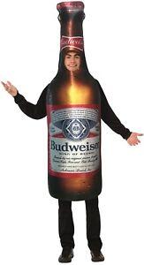Budweiser Beer Bottle Tunic Adult Men's Women's Funny Halloween Costume One Size