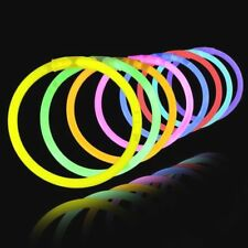 "100 Lumistick 8"" inch glowing bracelets & 50 glasses connectors kit *Free Ship"
