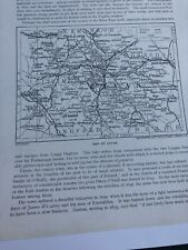 1923: Map of Cavan 97 Year Old Print Photo Doorway Kilmore Cathedral Original