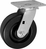 "CasterHQ- 6"" X 2"" INCH Swivel Caster - PHENOLIC Wheel - 1,250 LBS Capacity"