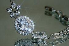 5ct Huge Oval Created Diamond Bracelet 18 -21cm /Adjustable