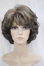 Wigs,brun mix court Bouclé santé cosplay Halloween cheveux perruques